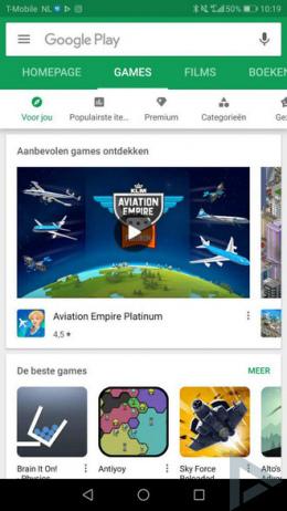 Google Play Store startscherm 05