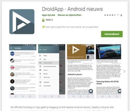 Google Play Store webversie