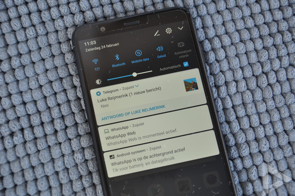 Huawei P Smart notificatie