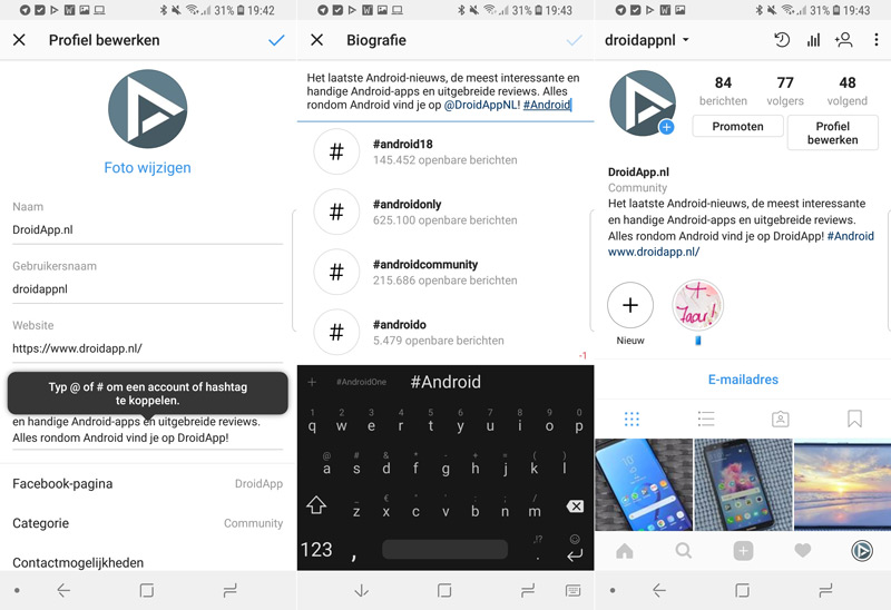 how to add clickable link in instagra