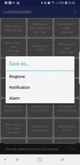 Luizenmoeder ringtone app