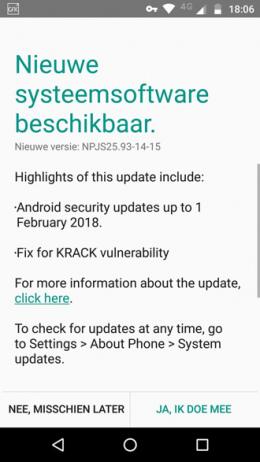 Moto G4 beveiligingsupdate februari 2018