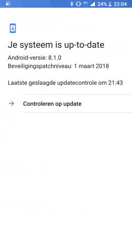 Nokia 8 beveiligingsupdate maart 2018