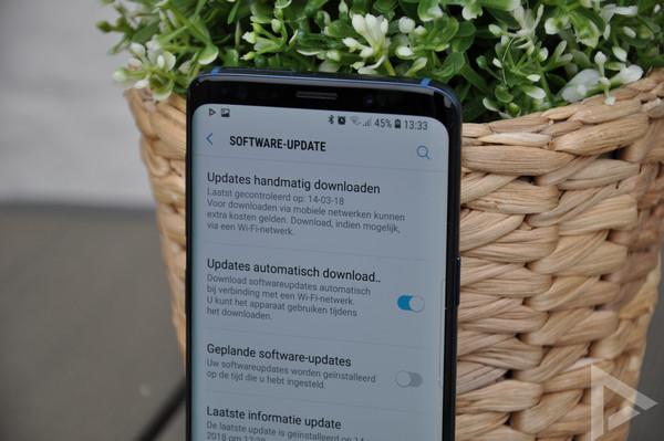 Samsung Galaxy S9 beveiligingsupdate juni 2018