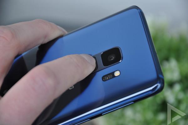 Samsung Galaxy S9 vingerafdrukscanner