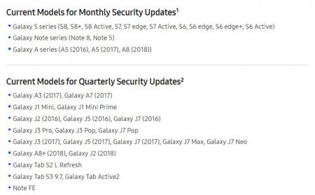 Samsung updates 03-2018