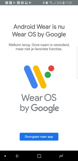 Wear OS app Android Wear