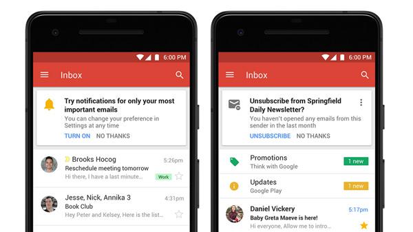 Gmail Android verbeteringen