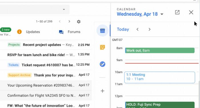 Gmail nieuw agenda