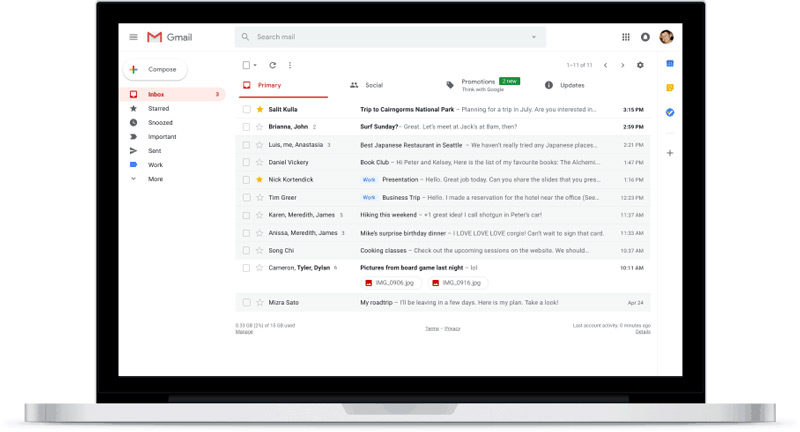 Gmail nieuw