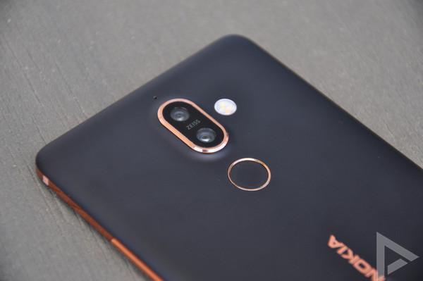 Nokia 7 Plus vingerafdrukscanner