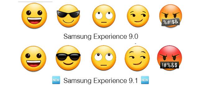 Samsung Experience 9.1 emoji