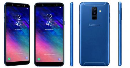 Samsung Galaxy A6 Plus blauw