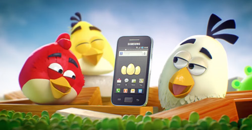 Samsung Galaxy Ace Angry Birds