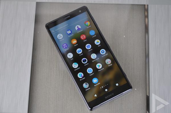 Sony Xperia XZ2 menu