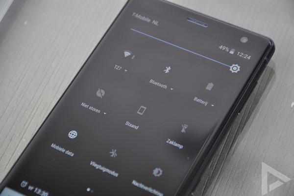 Sony Xperia XZ2 snelle instellingen