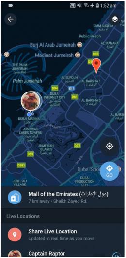 Telegram 0.20.6 locatie nachtmodus