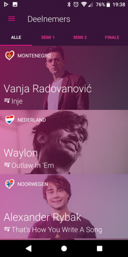 Eurovision Song Contest app