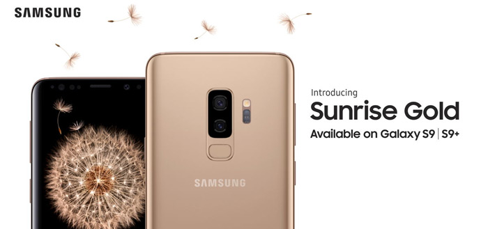 Samsung Galaxy S9 en S9+ in kleur Sunrise Gold nu te koop in Nederland