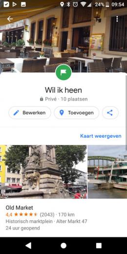 Google Maps lijst 9.77