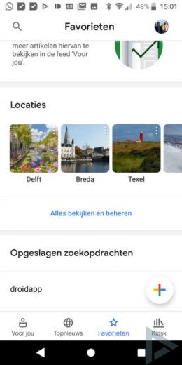 Google Nieuws 5.0 lokaal nieuws