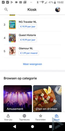 Google Nieuws 5.0 Kiosk