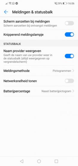 Huawei P20 Lite meldingen
