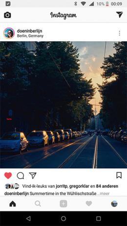 Instagram Like weergave