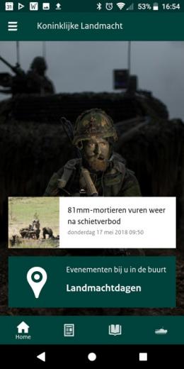 Landmacht app