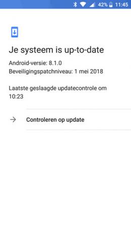 Nokia 6 beveiligingsupdate mei 2018
