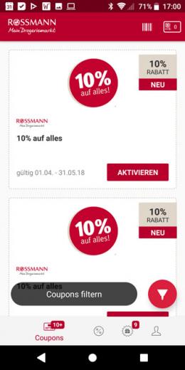 Rossmann app