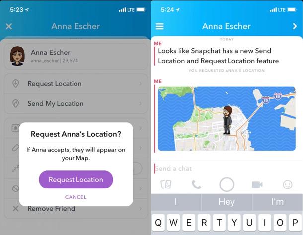 Snapchat locatie delen
