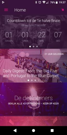 Songfestival app 2018