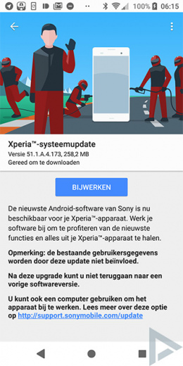 Sony Xperia Beveiligingsupdate mei 2018