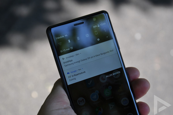 Sony Xperia XZ2 Compact notificaties