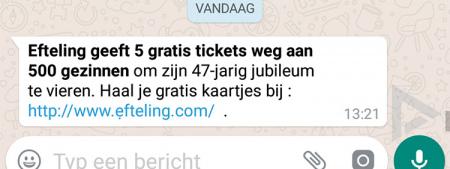 WhatsApp Efteling walibi