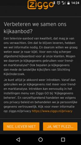 Ziggo Go app kijkgedrag