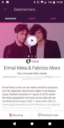 Songfestival 2018 app