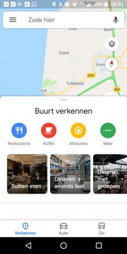 Google Maps verkennen