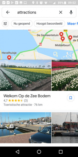 google maps attracties
