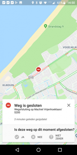 Google Maps incident-melding Waze