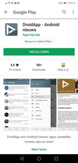 Google Play Store nieuwe interface