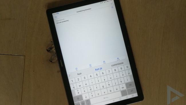 Huawei MediaPad M5 notitie
