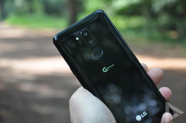 LG G7 ThinQ vingerafdrukscanner