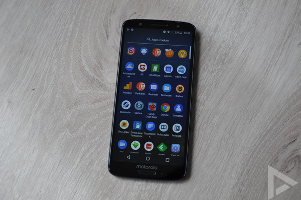 Moto G6 menu