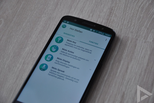 Moto G6 actions