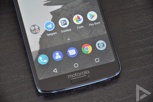 Moto G6 Plus vingerafdrukscanner