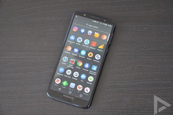 Moto G6 Plus menu