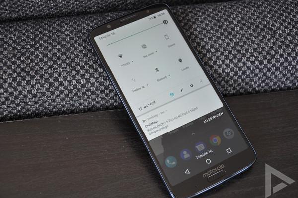 Moto G6 Plus notificatie