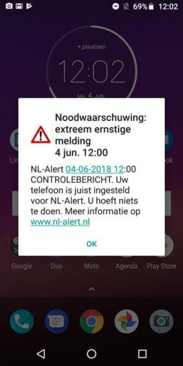 NL-Alert 4 juni